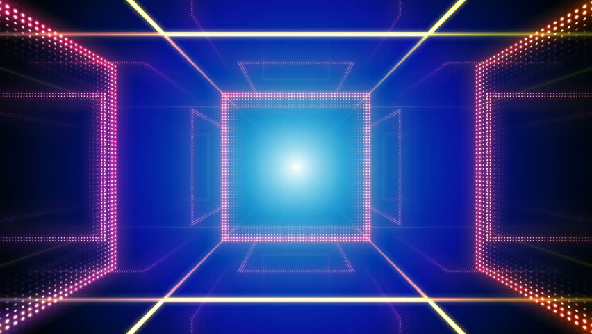 Disco club room space illumination neon light floor wall | Shutterstock HD Video #1013266418