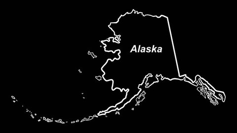 Alaska outline map draws on alpha channel: Time compresses & colorizes nicely.