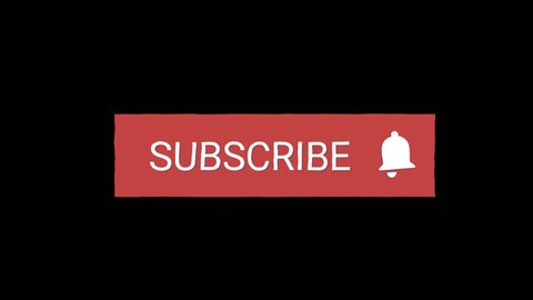 Cool wiggle pastel red subscribe button motion graphics with arrow pointer.Available in FullHD video.Isolated on a Alpha Background
