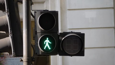 Crossroad red light and timer in London