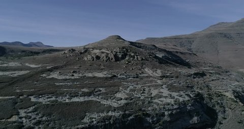 A clip of the Northen Drakensberg mountain range in South Africa during winter