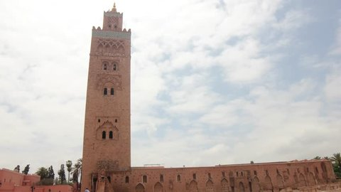 The Koutoubia Mosque is the largest mosque in Marrakesh, Morocco. It's known as a historical and architectural monument.