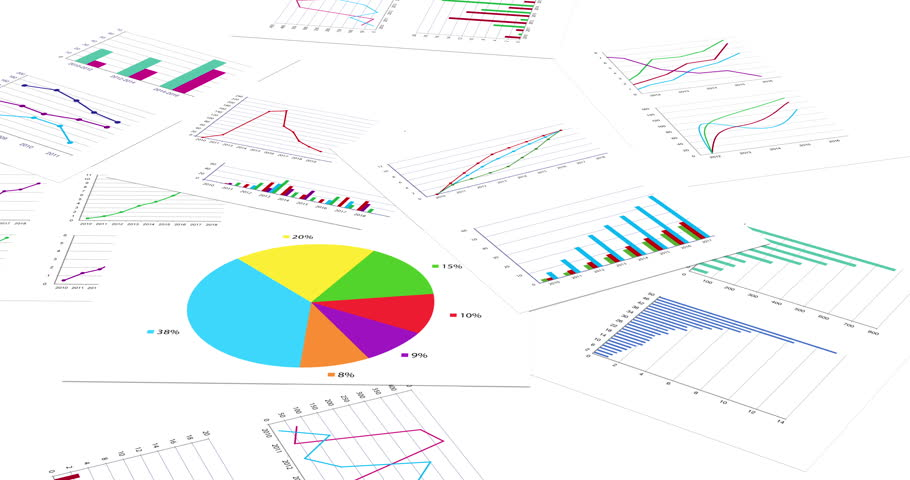 Growing financial charts on white background. Loopable 3D animation. 4K improved version | Shutterstock HD Video #1013467178