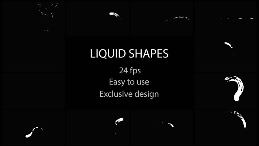 Liquid Shapes Pack. Hand drawn and frame by frame animated. Just drop elements to your project. Easy to customize with your favorite software. Alpha channel included. More elements in our portfolio #1013473118