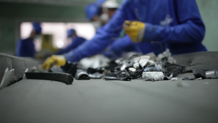 This facility is recycling electronic garbage | Shutterstock HD Video #1013473958