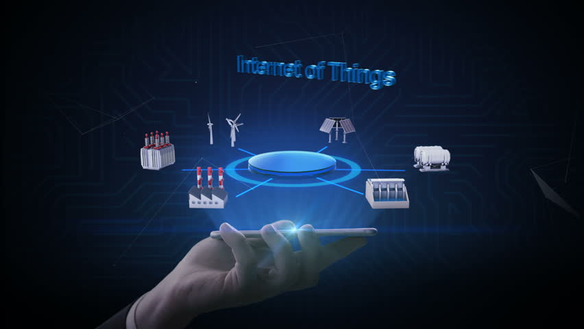 Lifting smart phone, mobile, Smart Factory, solar panel, wind generator, Hydroelectricity connect 'Internet of things', green energy. 4k movie.   Shutterstock HD Video #1013503148