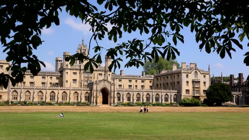 Cambridge in summer architecture university town 4K | Shutterstock HD Video #1013526458