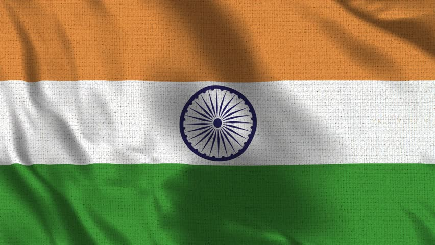 India Flag Loop - Realistic 4K - 60 fps flag of the Pakistan waving in the wind. Seamless loop with highly detailed fabric texture. Loop ready in 4k resolution