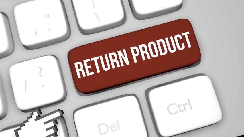 Return product concept keyboard key animation | Shutterstock HD Video #1013622038
