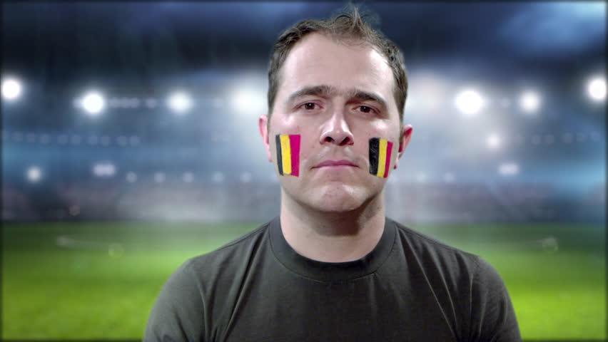 Belgium fan celebrating | Shutterstock HD Video #1013648978