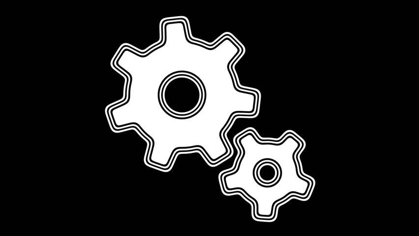 Gear. Looping footage has 4K resolution. Encoder Prores 4444. | Shutterstock HD Video #1013664218