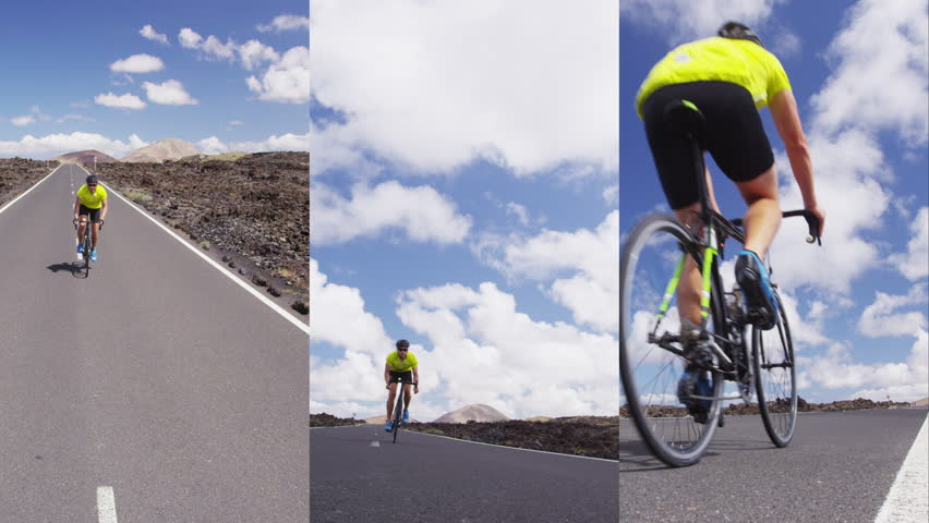 Vertical Videos of Road bike cyclist sports athlete biking cycling outdoors. Professional triathlete riding bike on an open road to the sunset. Active healthy man sport lifestyle. | Shutterstock HD Video #1013700098
