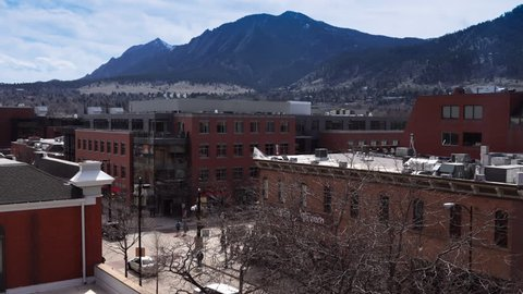 Timelapse of a city with mountains. Boulder, Colorado