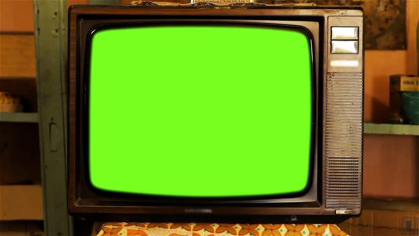 80s Television with Green Screen. Tobacco Tone. Zoom Out.  | Shutterstock HD Video #1013886848