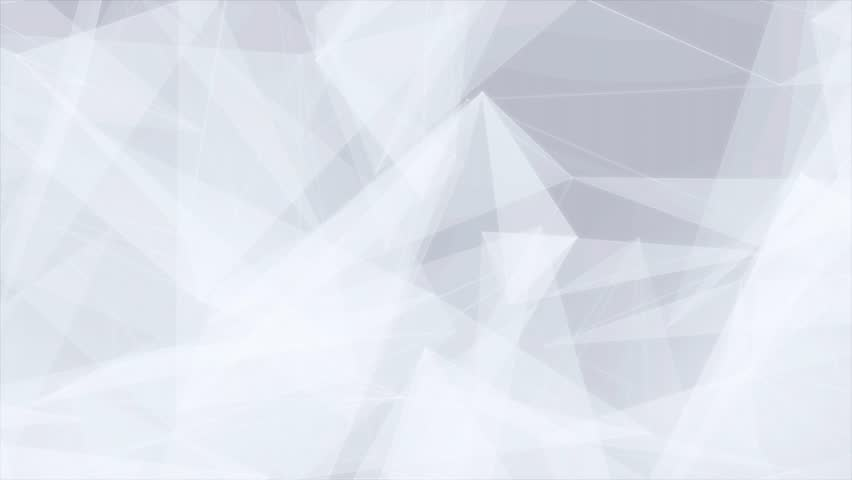 Clean White Abstract polygonal Digital Concept Geometrical Polygon Plexus Fractals Moving low poly Technologies Minimalist design element background for corporate business presentation | Shutterstock HD Video #1013908598