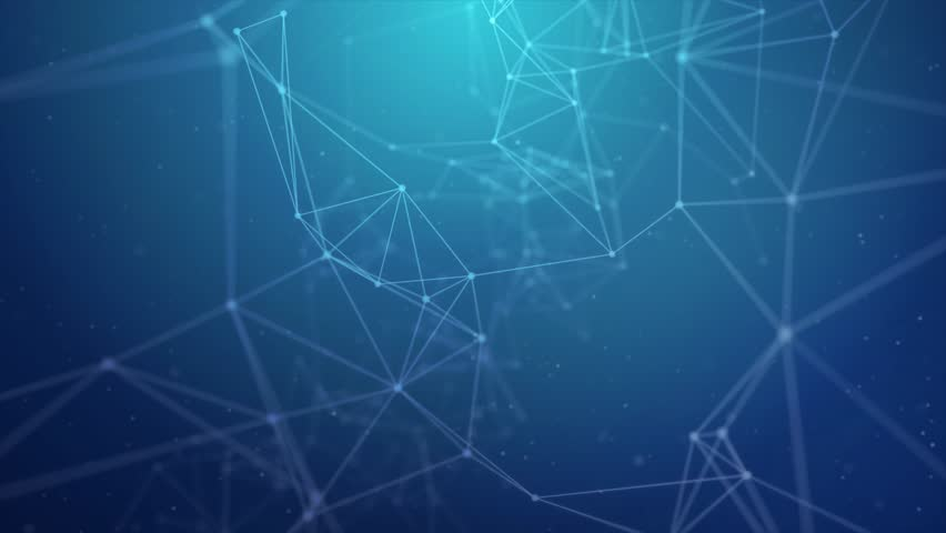 Blue Plexus Clean Professional Business Presentation Network Abstract polygonal space low poly dark with connecting dots and lines. Connection structure Science Futuristic Triangular background | Shutterstock HD Video #1013916878
