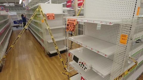 June 20, 2018, Davenport, Iowa, Going Out Of Business - Toys R Us - Empty Shelves