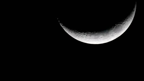 Waxing Crescent Moon / A Waxing Crescent is the first Phase after the New Moon.