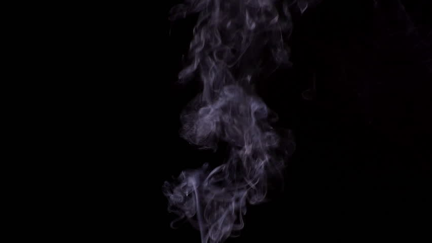 Abstract White Smoke on Black Background #1013971478