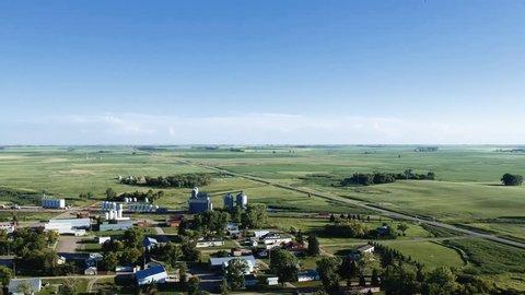 Small town North Dakota Aerial