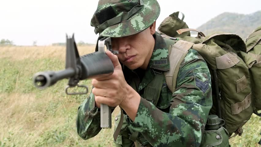 Slow Motion Of Soldier Aiming Stock Footage Video 100 Royalty Free 1013980448 Shutterstock
