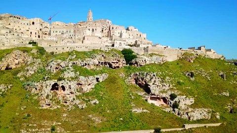 Matera town in Apulia, Italy