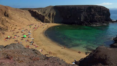 Beach at Playa del Pozo, Playas de Papagayo, Lanzarote, Canary Islands, Spain, Atlantic, Europe