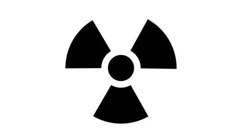 Nuclear symbol flashing icon loop