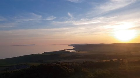 Dorset Coast Sunset Time Lapse from Swyre Head, UK