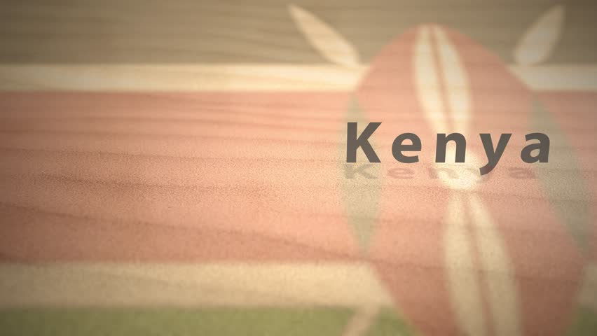 African Motion Graphics Country Name in Sand Series - Kenya | Shutterstock HD Video #1014191828
