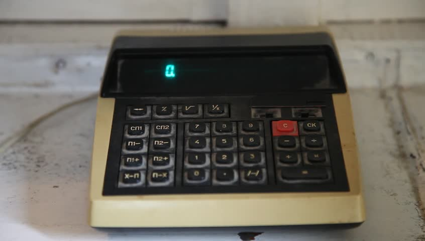 Old Calculator, Made in Ussr  Stock Footage Video (100% Royalty-free)  1014213818 | Shutterstock