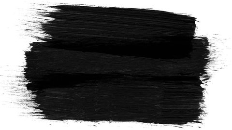Abstract paint brush stroke black and white transition background, animation of paint splash