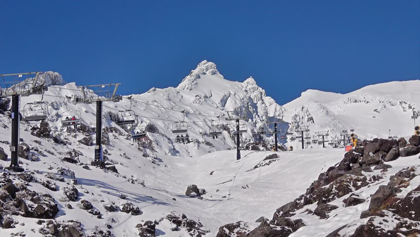 People are riding in chair lift in ski area - Mt Ruapehu - Whakapapa, New Zealand | Shutterstock HD Video #1014259568