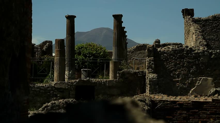 Historical roman ruins. Excavations of Pompei, Italia. Pompei scavi, Napoli.