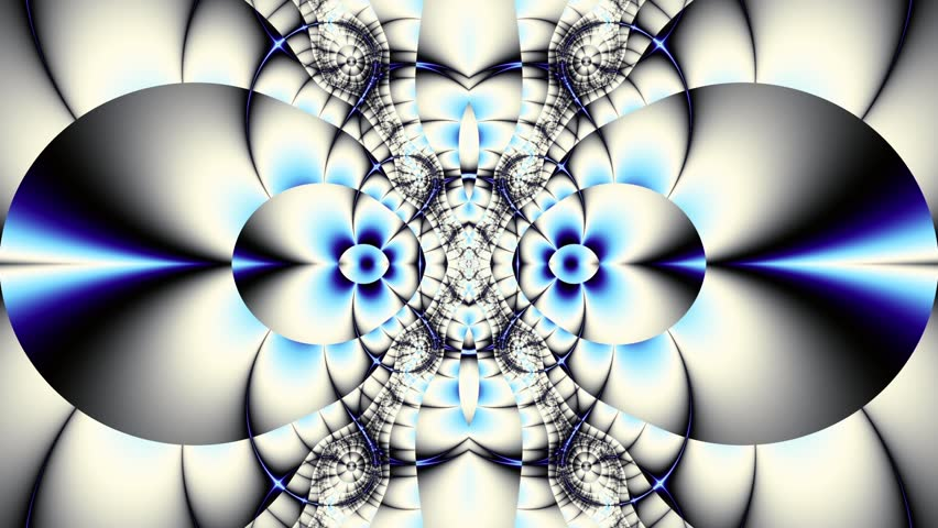 Transforming abstract futuristic background. Animated loop footage.