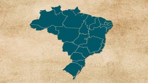 Brazil map texture papr