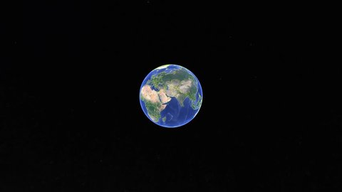 Jamaica with flag. 3d earth in space - zoom in Jamaica outer, created using ultra high res NASA