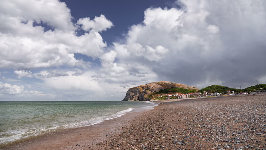 4k time lapse summer clouds over Llandudno on the North Wales coast
