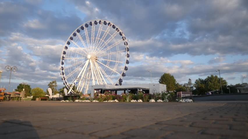 Gdynia - Juli 21: Time lapse of Gdynia Eye on Juli 21, 2018 in Poland.