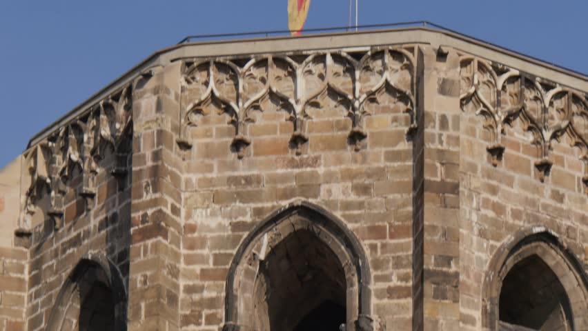 Basilica de Santa Maria del Pi, Placa del Pi, Barcelona, Catalonia, Spain, Europe