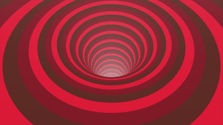 Abstract background with animated hypnotic tunnel from colorful caramel, glass or plastic. Spiral shape rainbow colors seamless loop rotation animation background new quality universal motion