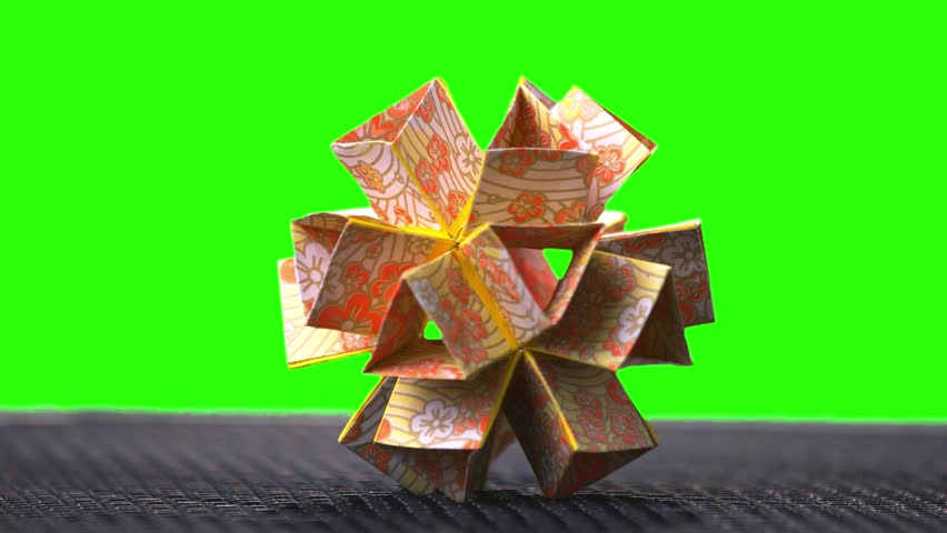 Origami Flower Ball Origami Ball Stock Footage Video 100 Royalty