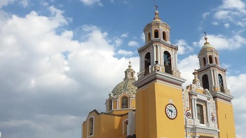 Los Remedios Church over the biggest pyramid in the world