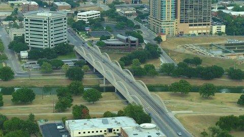Aerial W 7th Street Bridge Fort Worth Texas