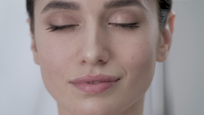 Face Care. Attractive Woman Touching Skin Under Eyes Closeup | Shutterstock HD Video #1014622388