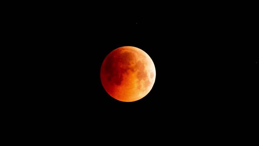 Blood Moon the longest lunar eclipse in a century, time-lapse - July 2018 | Shutterstock HD Video #1014627188