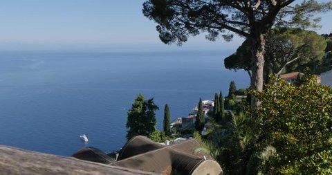 View of Villa Rufolo, Ravello, Costiera Amalfitana (Amalfi Coast), UNESCO World Heritage Site, Campania, Italy, Europe