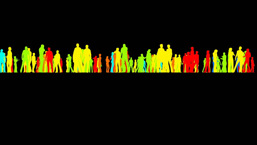 A crowd of people stand on a black background | Shutterstock HD Video #1014660758