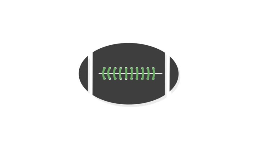 Sports icons animation with white  background.Rugby icon animation with white background.