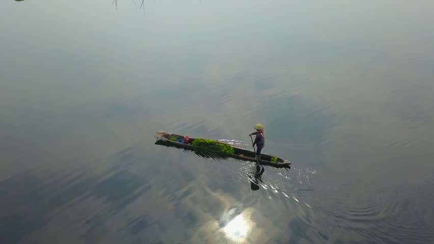 A boatman at loktak lake